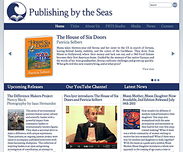 screenshot of publishingbytheseas.com